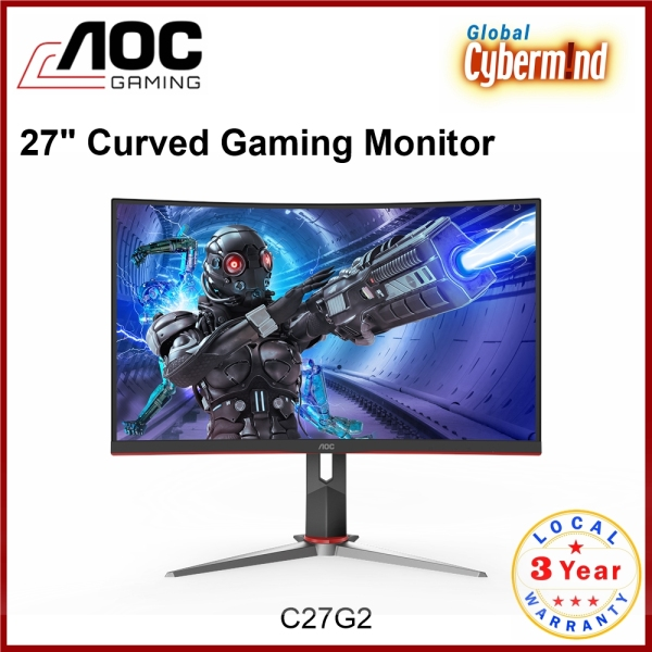 AOC C27G2 27 inch Full HD Curved Gaming Monitor with 165Hz (Brought to you by Global Cybermind)