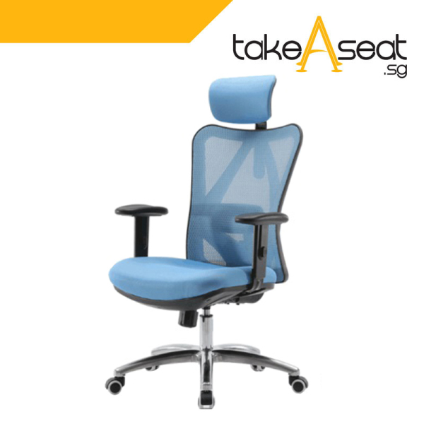 [Pre-Order] M20 Office Chair (Self Setup) ★ Executive Office Chair ★ Mesh Chair ★ Adjustable Lumbar Support ★ Home/Office Use (Ships After 17 August) Singapore