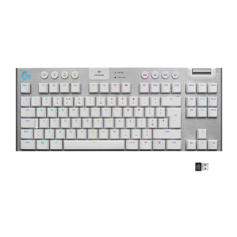 Logitech G915 TKL (Tactile) White Wireless Mechanical Gaming Keyboard Singapore