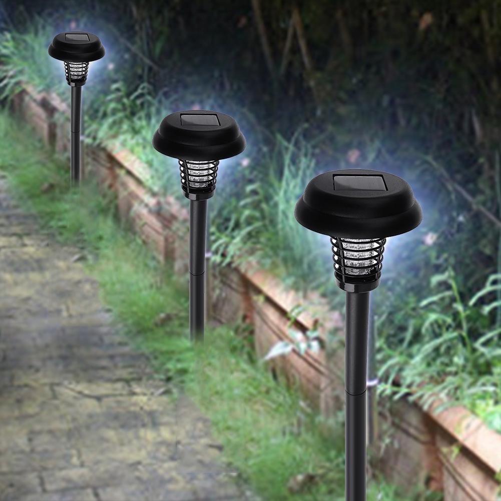 Solar Mosquito Killer LED Lamp Waterproof Outdoor Garden Yard Lawn Light