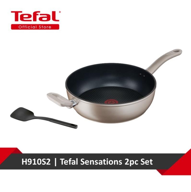 Tefal Sensations 2pc Set (Deep Frypan 28cm + Spatula) H910S2 Singapore
