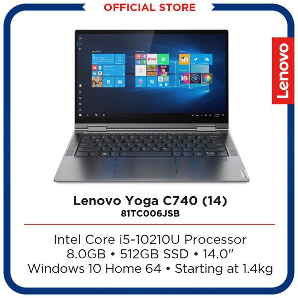 Lenovo Yoga C740 (14) | Convertible Laptop | Intel Core i5-10210U Processor | 8GB | 14"