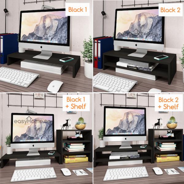 Monitor Stand D2 D4 - Home / Office Computer Desk Organizer Ergonomic