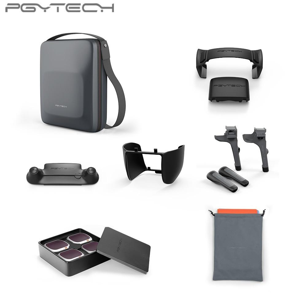 Pgytech 7 In 1 Accessories Combo Carrying Case + Nd Filter Lens + Landing Pad + Extension Legs Gear + Propeller Holder + Control Stick Guard + Len Hood Protector For Dji Mavic 2 Pro / Zoom.
