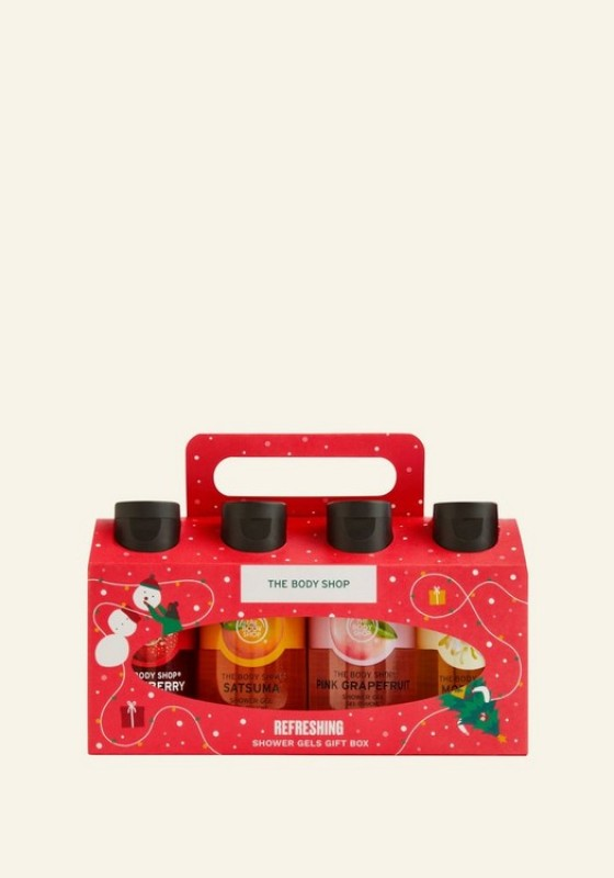 Buy The Body Shop Refreshing Shower Gels Gift Box (Christmas Gift Set) Singapore