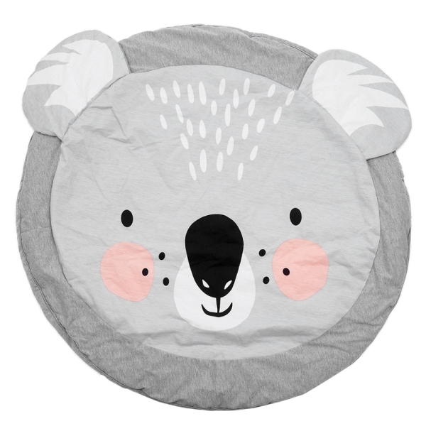 90CM Kids Play Game Mats Round Carpet Rugs Mat Cotton Crawling Blanket Floor Carpet For Kids Room Decoration INS Baby Gifts Koala Singapore