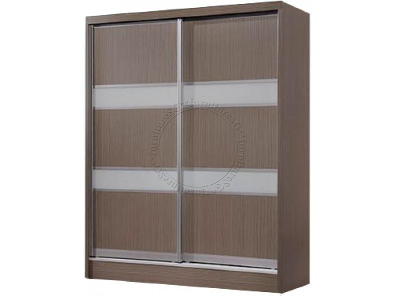 (FurnitureSG) 5 feet Sliding Door Wardrobe *Free Delivery*