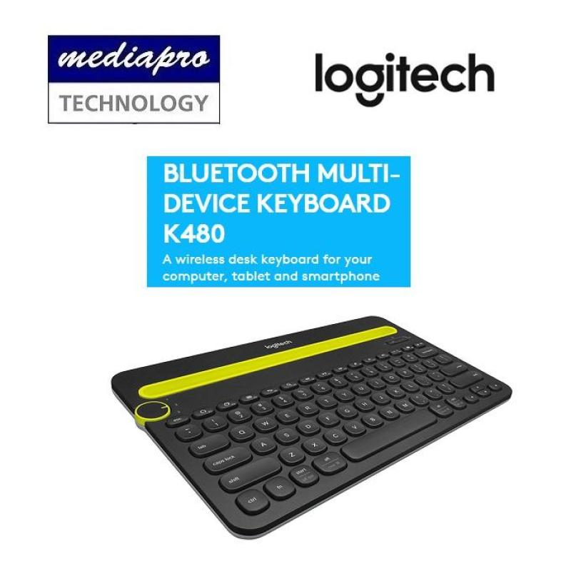 Logitech K480 Black Bluetooth Multi-Device Keyboard (iOS, Android, OSX, iPhone) - Local Logitech Warranty Singapore
