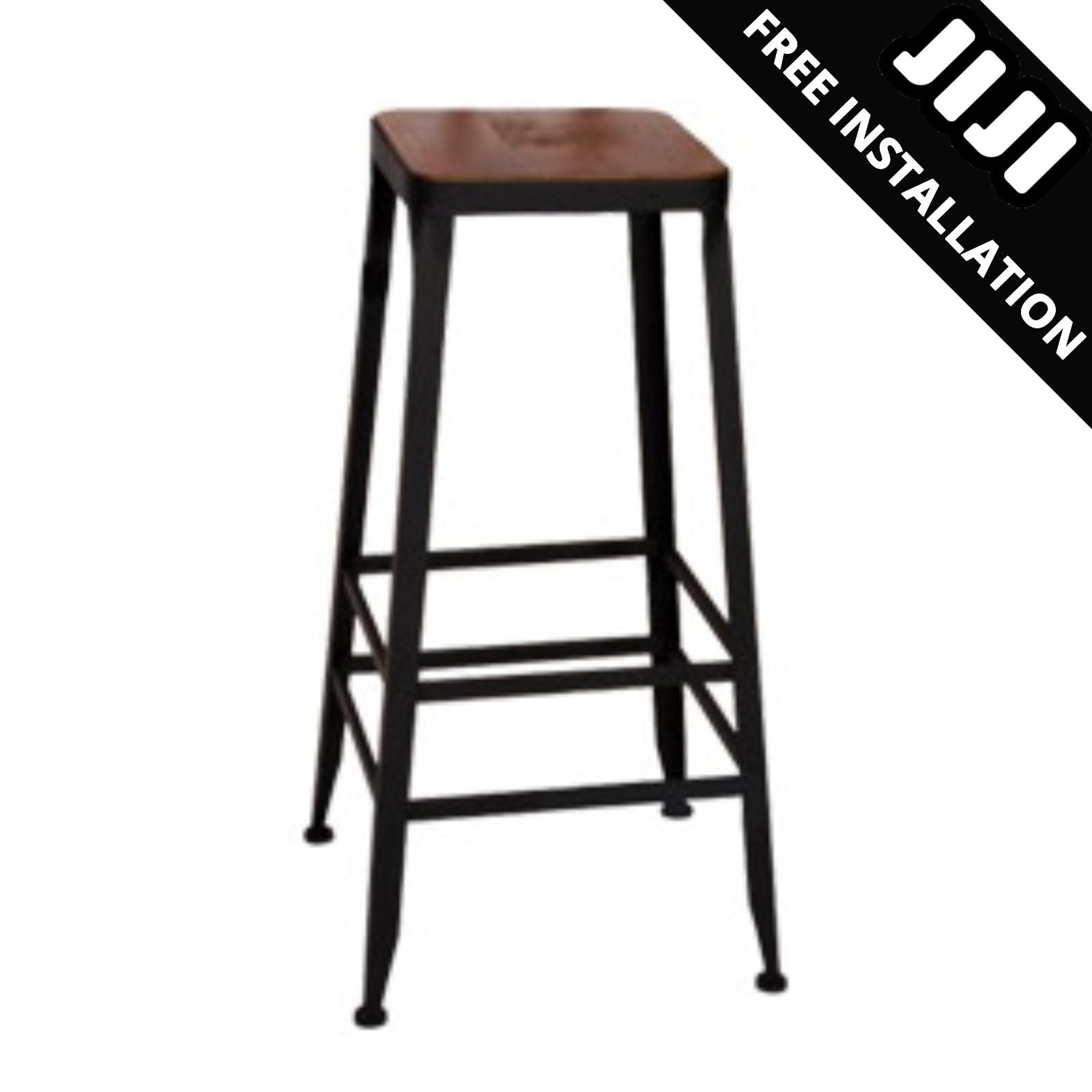 JIJI RETRO High Bar Stools (Free Installation) - Chairs / Dining Furniture / High Chairs (SG)