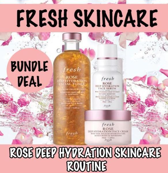 Buy FRESH ROSE DEEP HYDRATION SKINCARE  ROUTINE SET 3ITEM Singapore