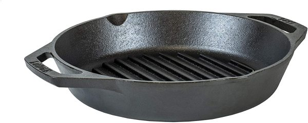 Lodge 10.25-inch Dual Handle or Grill or Baker skillet Cast Iron Pan.  Made In USA. Guaranteed Low Price! Local Stock! Singapore