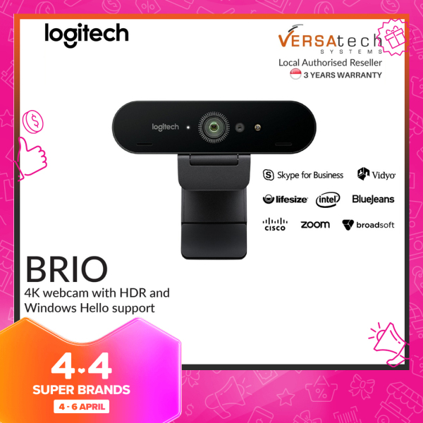 Logitech BRIO Ultra HD PRO 4k WEBCAM with HDR and Windows Hello support