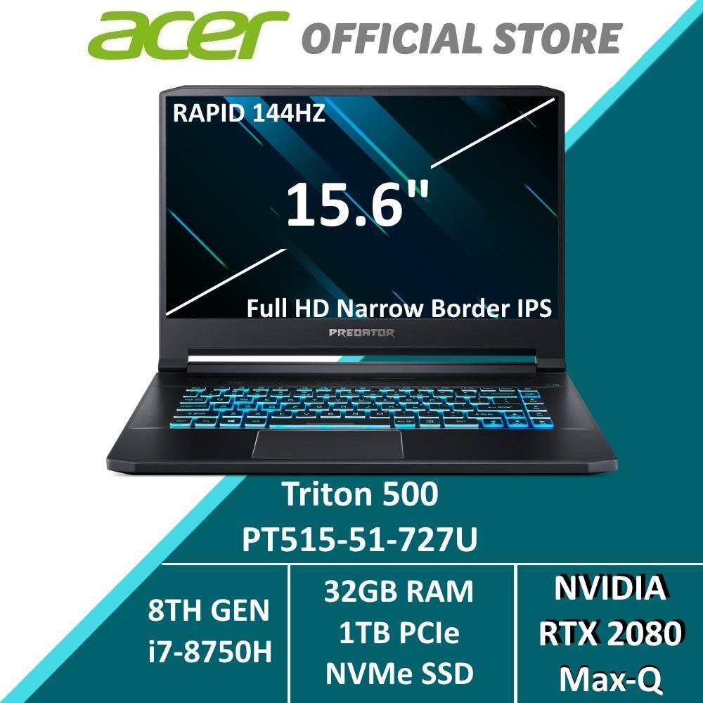 Predator Triton 500 PT515-51-727U 15.6-inch FHD IPS 144Hz E2E NVIDIA RTX 2080 MAX-Q