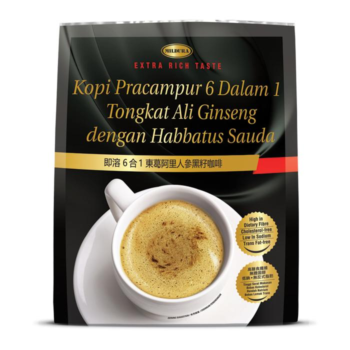 [mildura] Instant Premix Tongkat Ali Ginseng With Blackseed 6-In-1 (30gx12) - New!!!!! By Mt Picturebox.