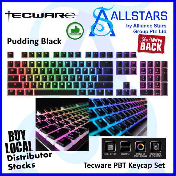 (ALLSTARS : We Are Back Promo) Tecware Pudding PBT Keycap Set (Warranty 1year with TechDynamic)