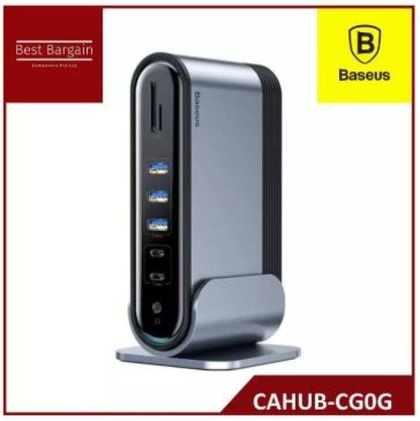Baseus Working Station Three-Screen Multifunctional Type-C HUB Adapter Dark gray CAHUB-CG0G
