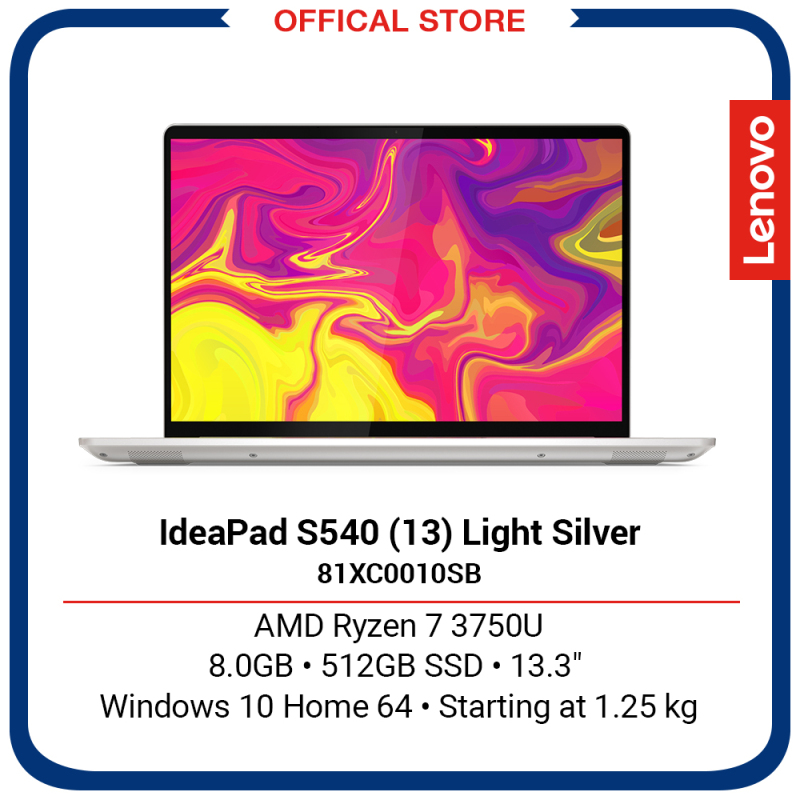 Lenovo IdeaPad S540 (13) | AMD Ryzen 7 3750U | 8GB | 512GB SSD | 13.1 | Light Silver | 2Y Premium Care warranty