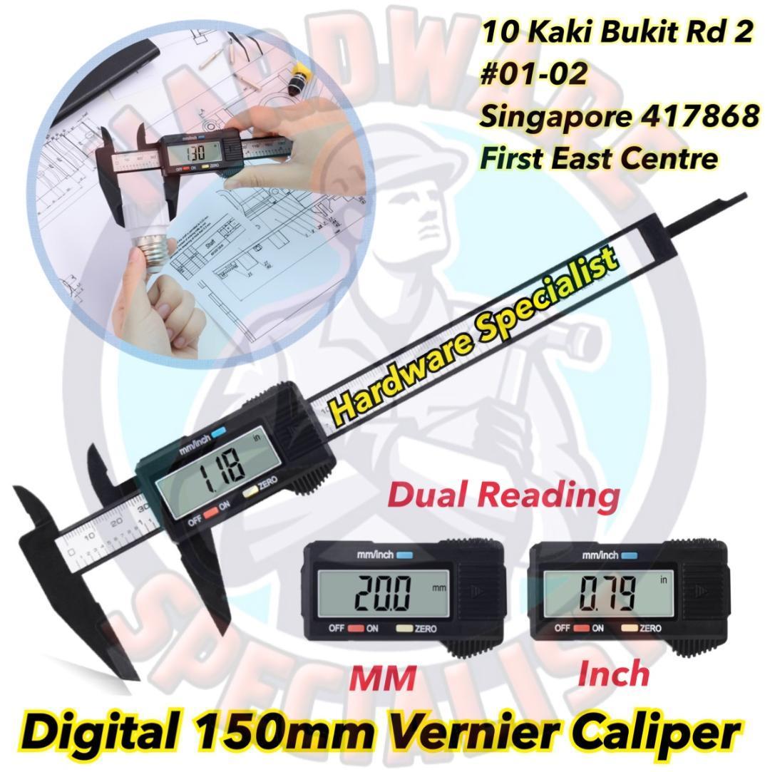 Hardware Specialist LCD Digital Vernier Caliper (Precise Measurement Tool)