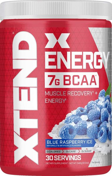 Buy Scivation Xtend Energy BCAAs 30 Servings Blue Raspberry Ice for Muscle Growth and Strength FREE Shipping 2-3 Days by RunningMan Singapore
