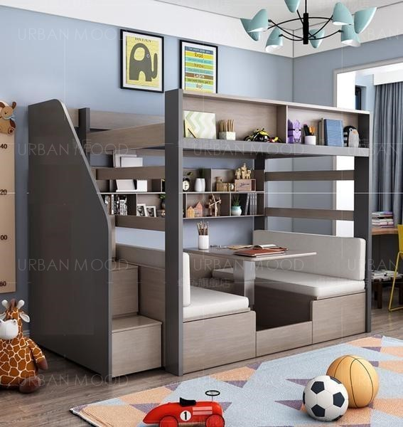 [Pre-Order] TRAVIS Modern Double Deck Multipurpose Children Bed