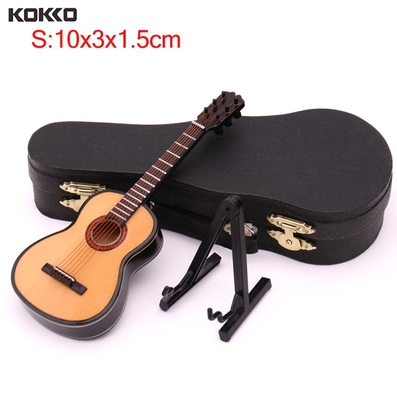 Giá Cực Sốc Khi Mua Mô Hình Guitar Mini KOKKO, Mô Hình Nhạc Cụ Cổ Điển Thu Nhỏ Kèm Hộp Đựng