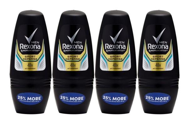 Buy REXONA (Bundle of 4) Deodorant Roll-on [Men Sport Defence 50ml] Singapore