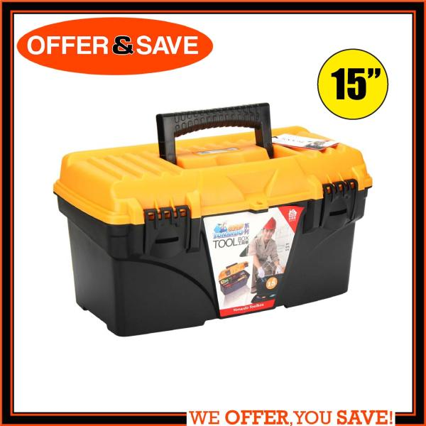 ONS Heavy Duty Tool Box With Removal Tray 15  (Yellow/Black)