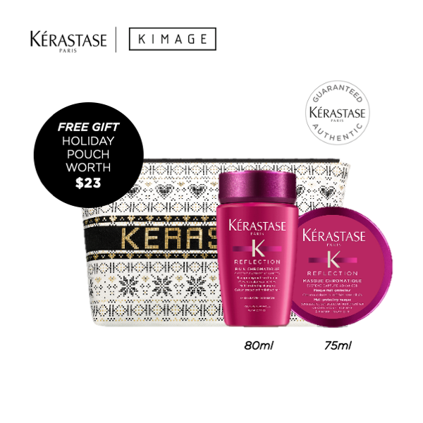 Buy Kerastase Travel Sized Packset for Coloured Hair with Free Pouch Singapore