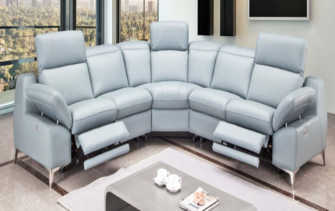 Gemini SFFL865 QX 5 Seaters Full Leather Sofa set