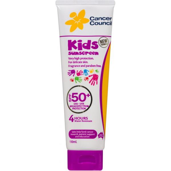 Buy Cancer Council Kids Sunscreen Spf 50+ UVA/UVB 110ml Singapore