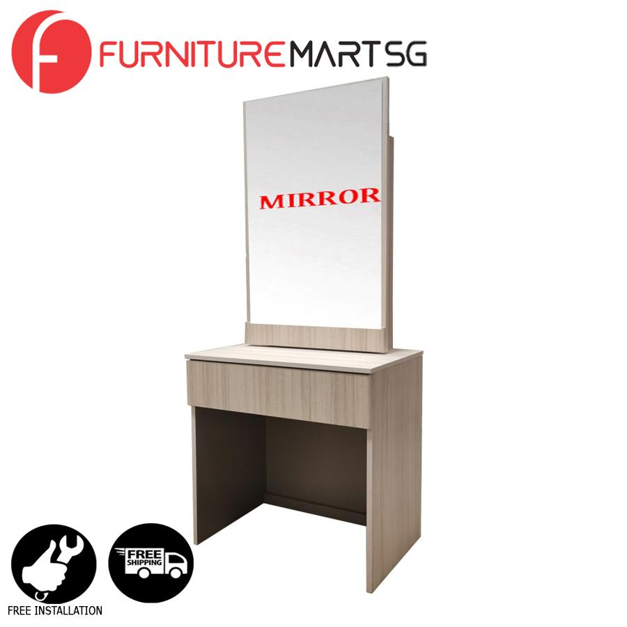 [FurnitureMartSG] Doris Dressing Table - White Wash_FREE DELIVERY + FREE INSTALLATION