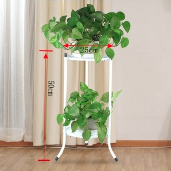 [SG Seller] Metal Plant Stand Plant Rack Flower Pot Stand - available in Black / White colour - Stock in SG