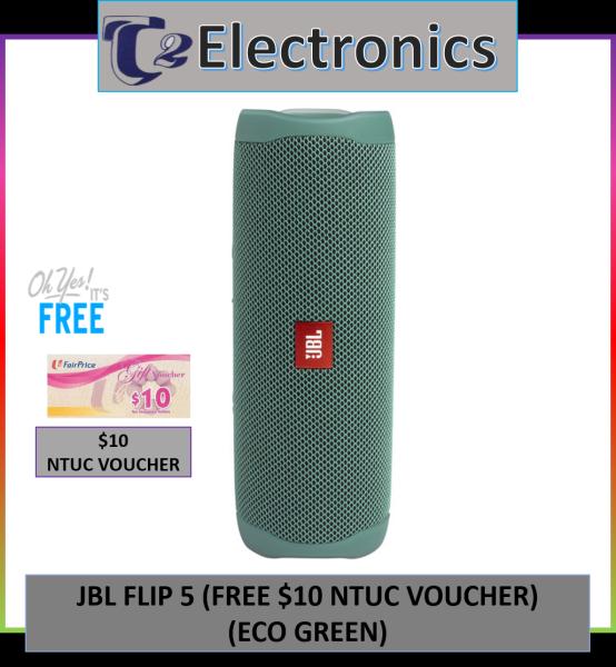 JBL Flip 5 -Free $10 NTUC VOUCHER - T2 Electronics Singapore