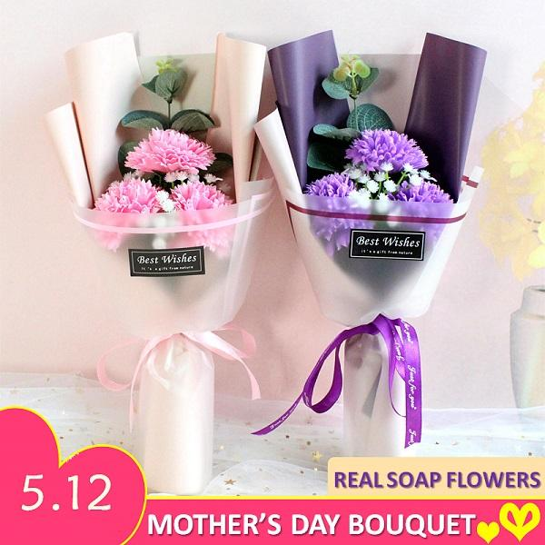 Mother Day Gift Soap Flower Bouquet Rose Flower Carnations Sunflower