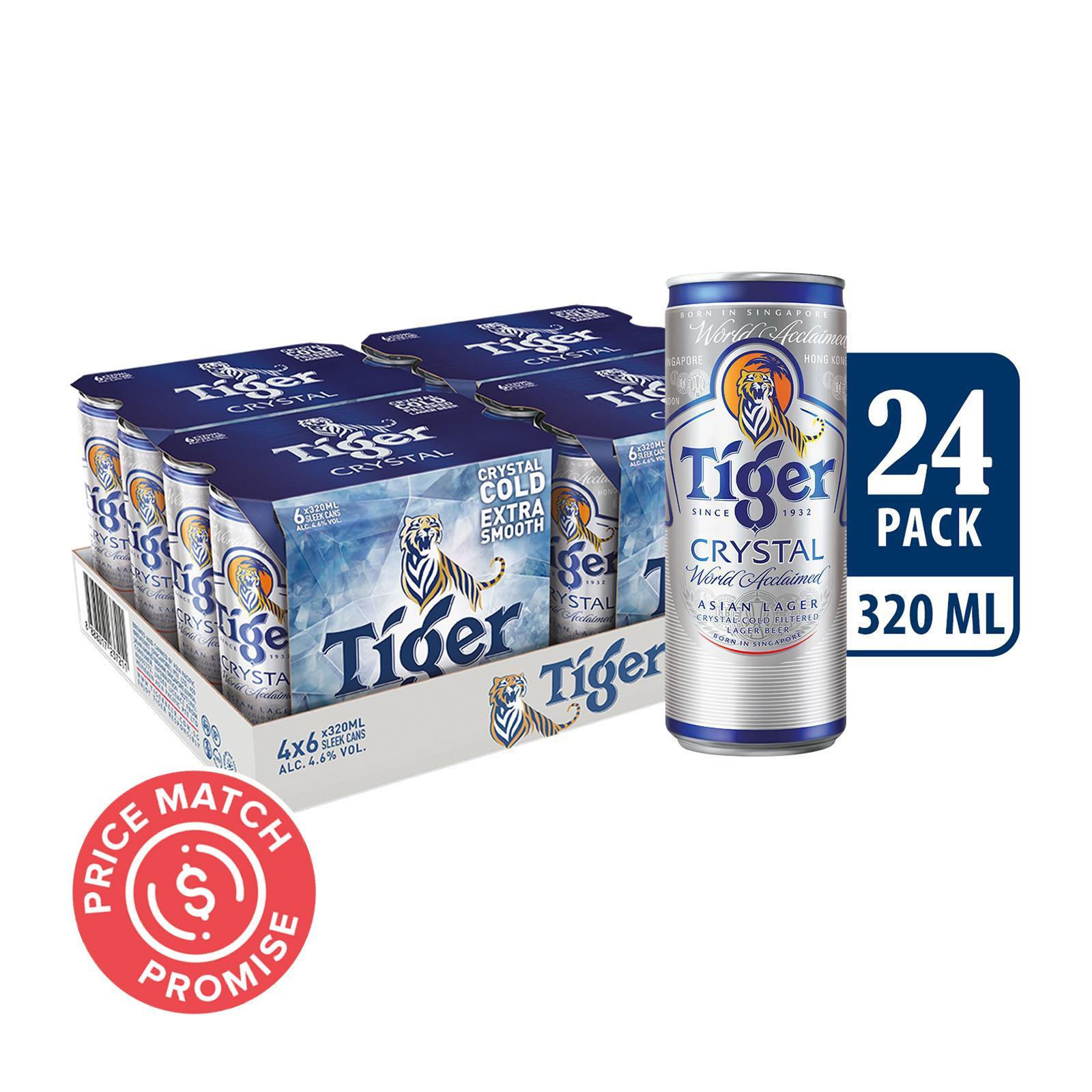 Tiger Crystal Beer Can 24x320ml