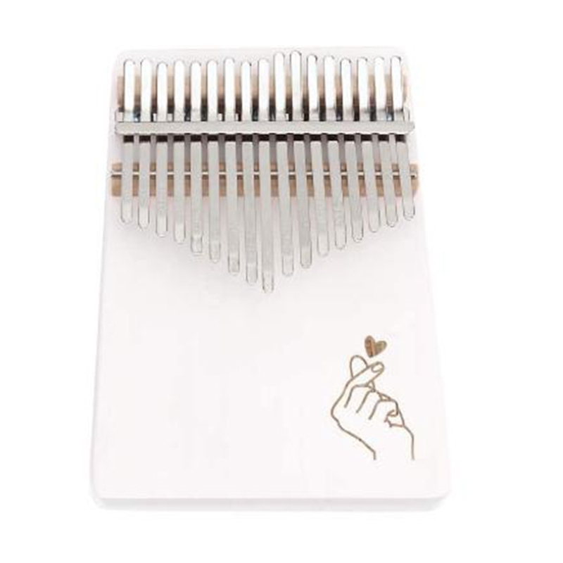 17 Keys Thumb Piano Finger Piano Hand Piano Wooden Finger Piano with Tuning Hammer Simple Learning Adult Beginners