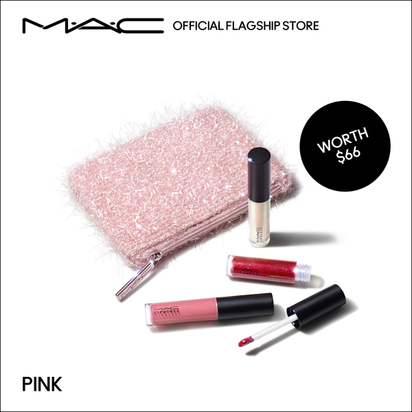 Buy [Holiday Special] MAC Frosted Firework - 4-pcs Lip Gloss Make Up Set with 3-pcs Mini Lipglass, 3.2ml each (worth $66) • Fireworked Like A Charm Mini Lipglass Kit: Pink/ Neutral Singapore