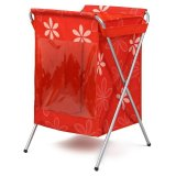 Best 7794 Oxford 7794 Cloth Folding Metal Frame Transparent Window Laundry Basket Red Export