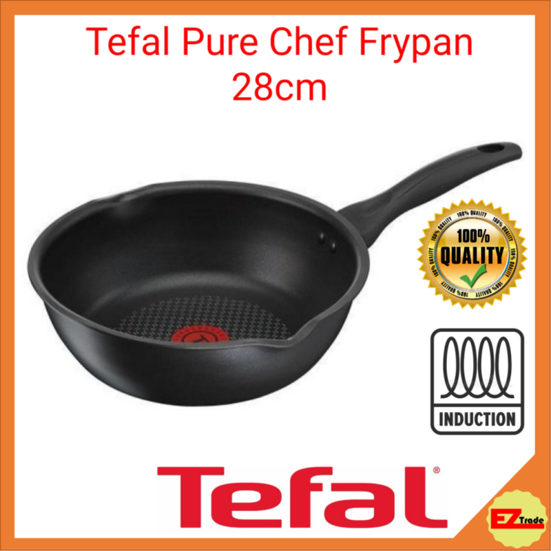 Tefal Pure Chef Hard Titanium Deep Frypan 28cm C64386 | Frying Pan,, All Hobs, Induction Singapore