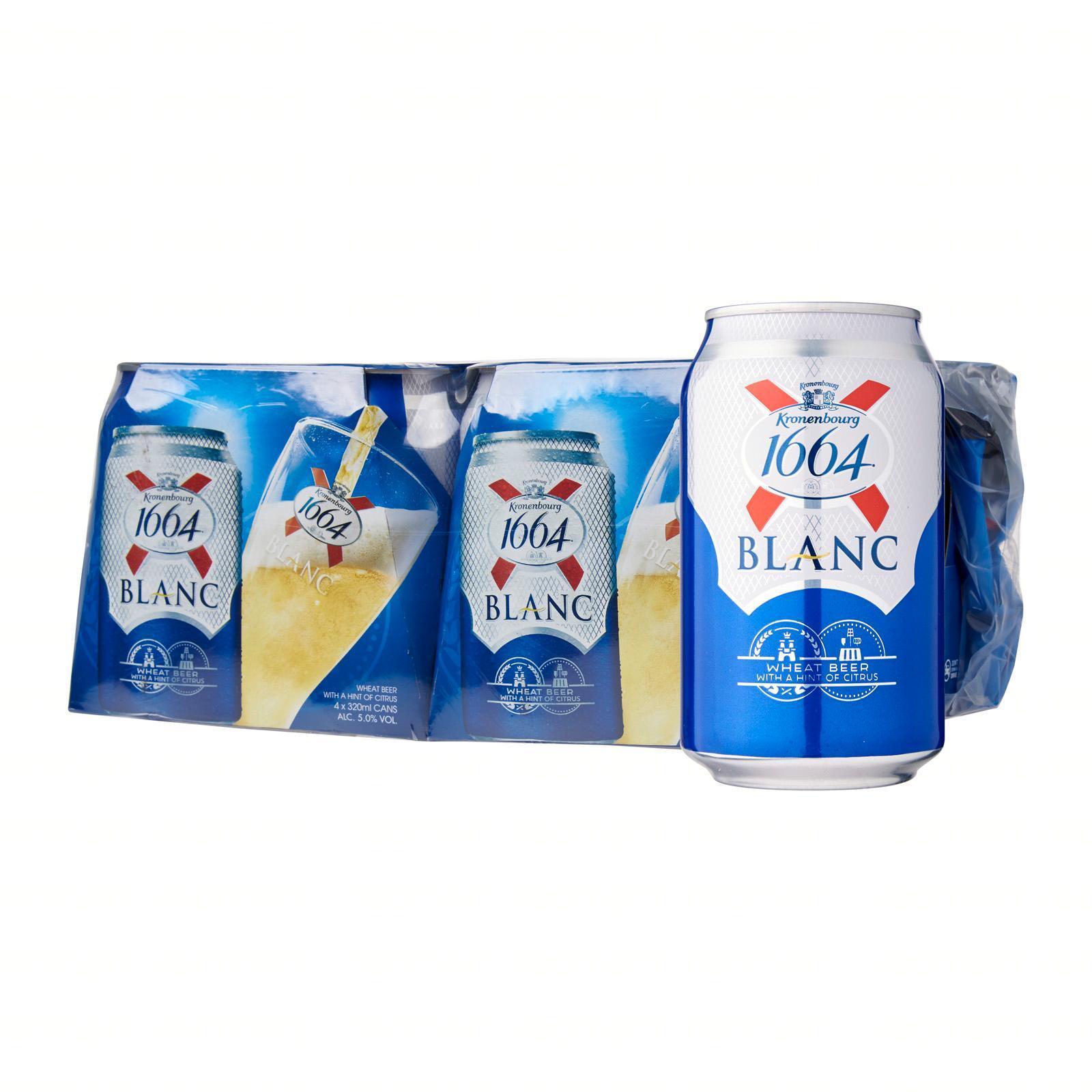 Kronenbourg 1664 Blanc Wheat Beer (Free Dry Bag)