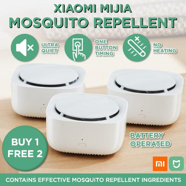 3pcs Xiaomi Mijia Mosquito Dispeller Smart Time Portable Electric Household Mosquito Insect Repeller