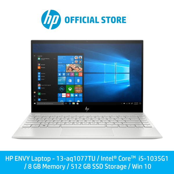 [Pre-Order] HP ENVY Laptop 13-aq1077TU / Intel® Core™ i5-1035G1 / 8 GB Memory / 512 GB SSD Storage / Win 10 [Ship Within 14 Days]