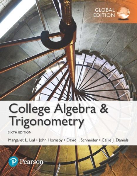 College Algebra and Trigonometry, Global Edition   Edition 6   9781292151953   Paperback
