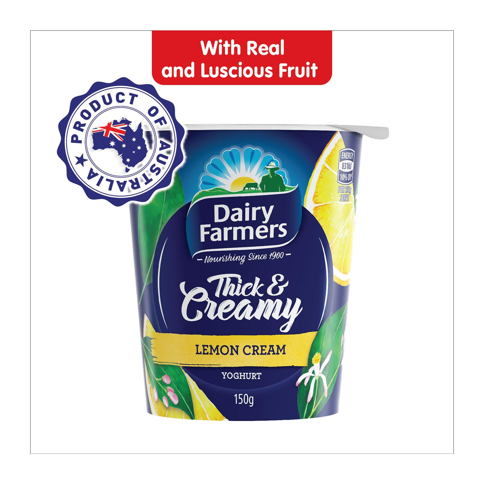DAIRY FARMERS Yoghurt Thick & Creamy Lemon Cream 150g
