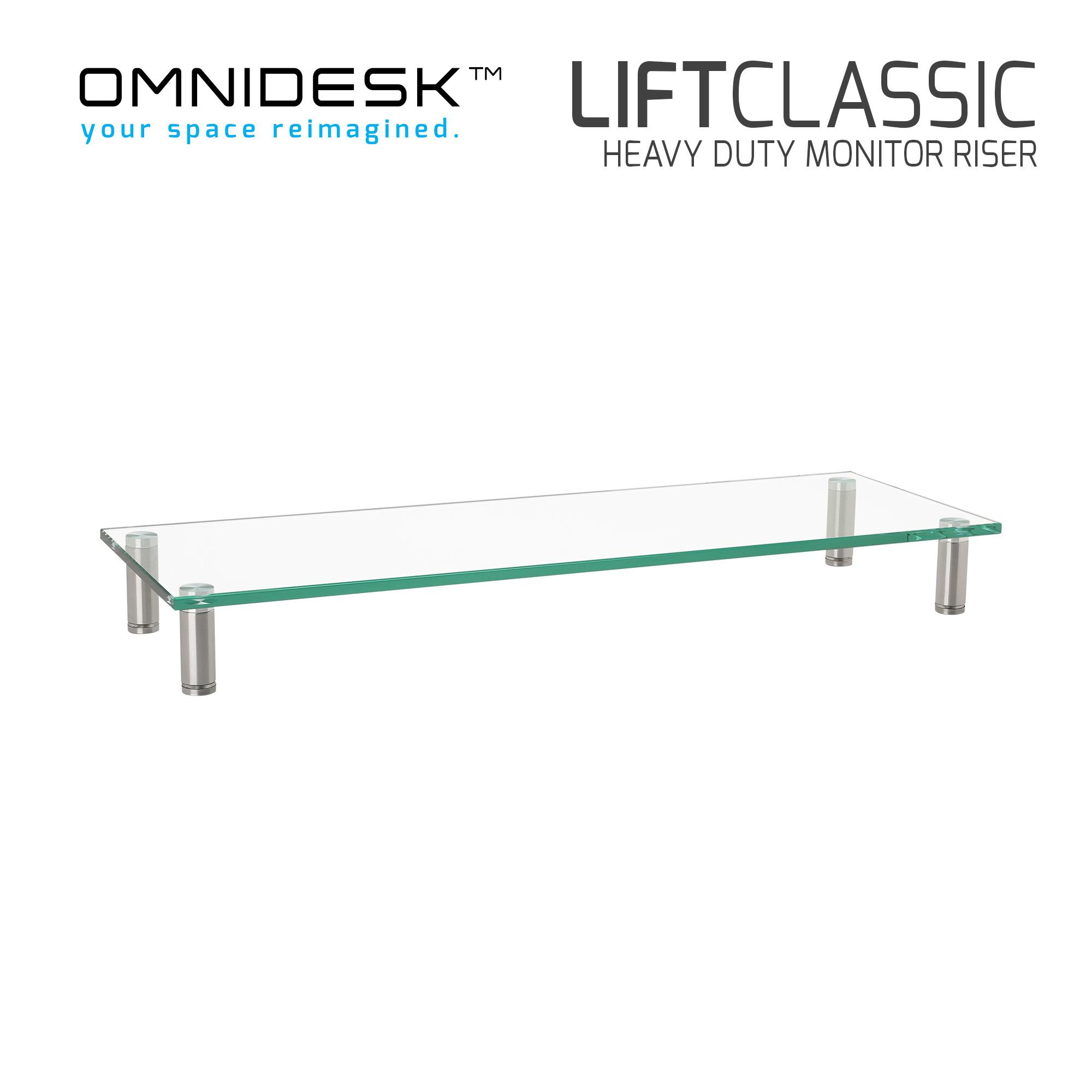 Omnidesk Lift Classic - Tempered Glass Riser