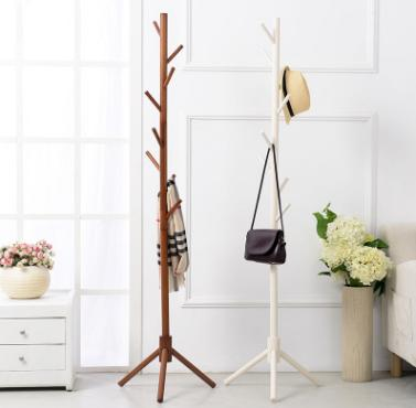 Twig floor coat rack European style bedroom simple creative wooden hanger Hanging clothes rack