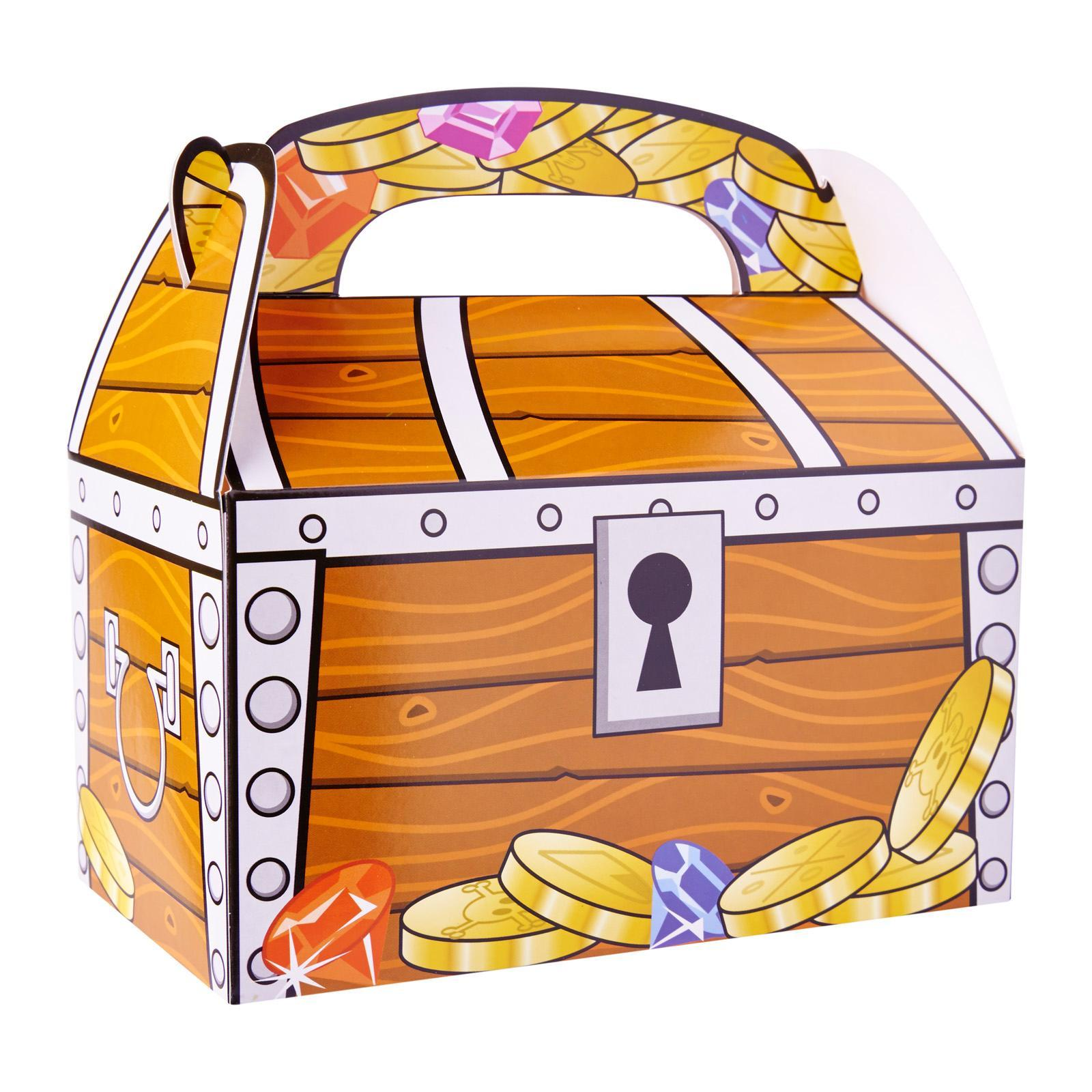 Fun Express Treasure Chest Favor Boxes 12 Pack