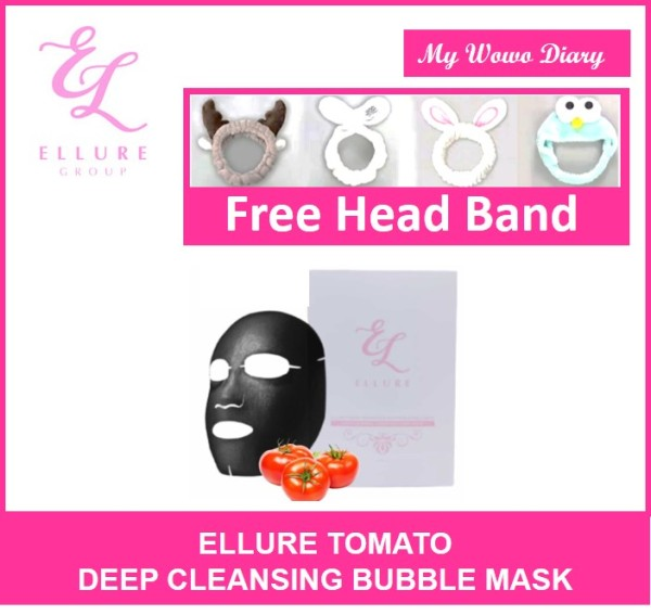 Buy [FREE GIFT]] ELLURE Tomato Bubble Mask Deep Cleansing Facial Mask Singapore
