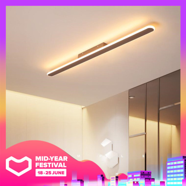 LED Ceiling Lights Office Strip Lamp Bedroom Living Room Lamps Balcony Corridor Aisle Ceiling Lamp Indoor Lighting Warm Light