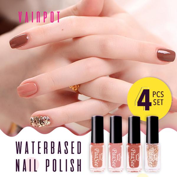 Buy [Vainpot-SG] PaaSee Non-toxic Water based Peelable Nail Polish 4 IN 1Set Singapore